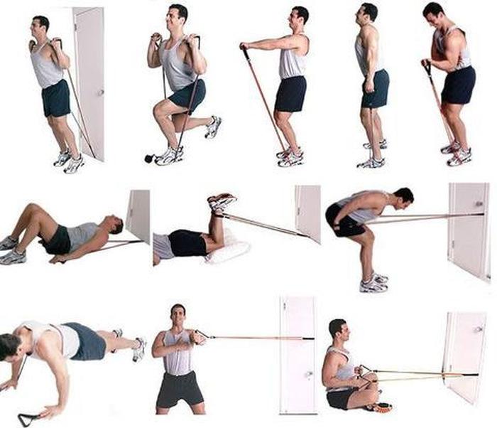 Резиновый жгут для тренировок